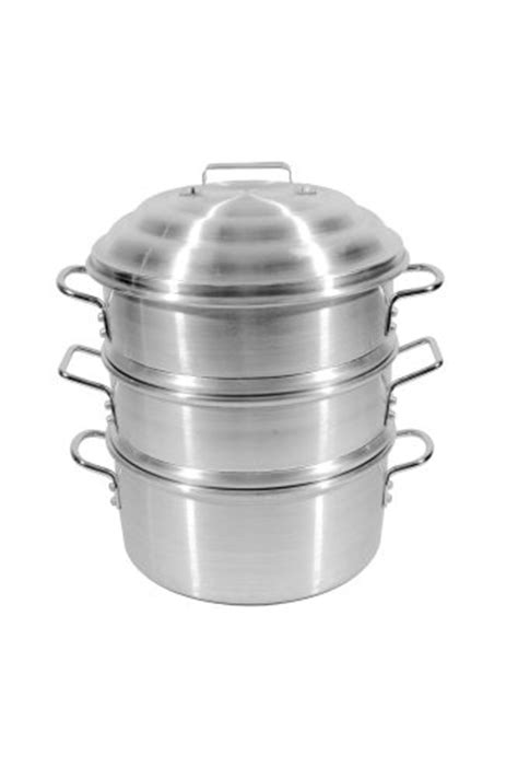 Town Food Service 14 Inch Aluminum Steamer Set   The