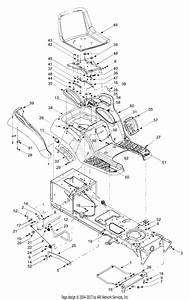 Mtd 14ar808k731  2004  Parts Diagram For Seat  Fender Assembly