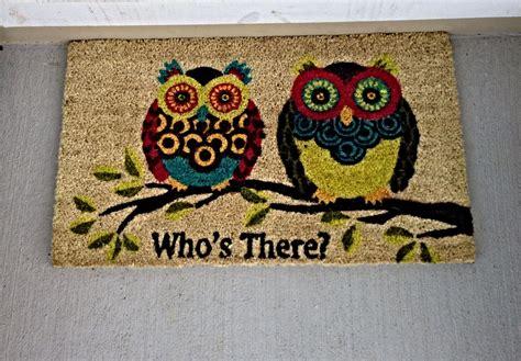 owl welcome mat owl welcome mat decor ideas