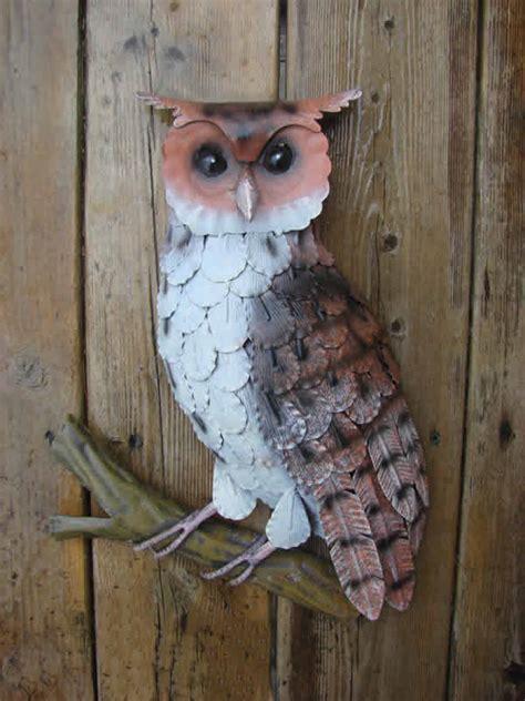 metal owl wall plaque mondus distinction garden decor