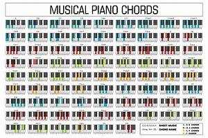 Classic Piano Music Chords Vector