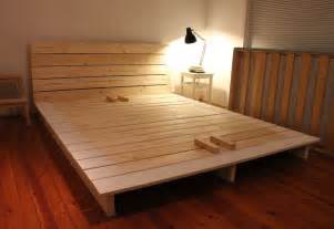 Platform Bed Plans by Build Your Own King Size Platform Bed Frame
