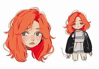 Drawing Character Hair Cartoon Drawings Haired Anime