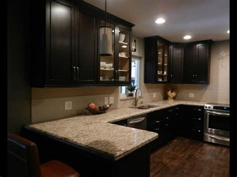 Espresso Kitchen Cabinets With Backsplash  Youtube
