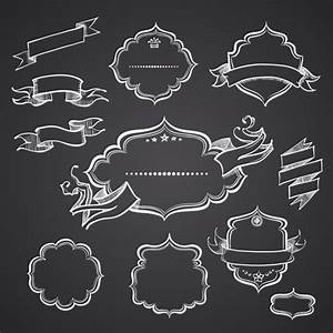 20 Black And White Vector Ribbons Images - Black and White ...