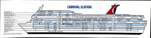 carnival cruise lines imagination deck plans deck plan card view1