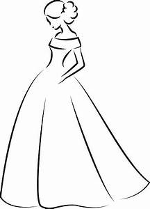 White Dress clipart elegant dress - Pencil and in color ...