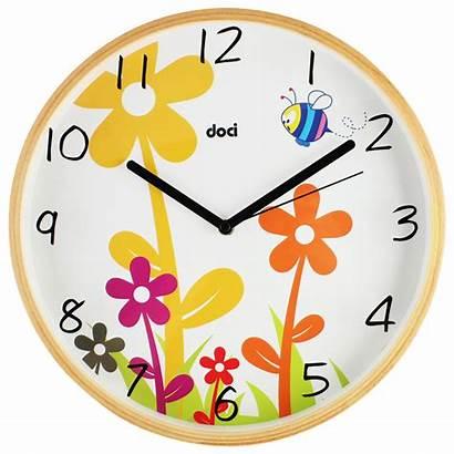 Clock Clipart Cartoon Clip Wall Child Cliparts