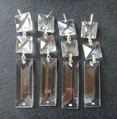 Chandelier Glass Parts by 3 0 Triangle Article Clear Glass Prisms Decor