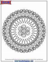 Advanced Coloring Pages Mandala Printable Adult Printables Colouring Mandalas Templates Sheets Hmcoloringpages Pencil sketch template