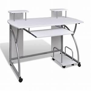 Computertisch Auf Rollen : computertisch schreibtisch mobiler b rotisch computerwagen ~ Watch28wear.com Haus und Dekorationen