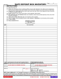 safe deposit box inventory form form rev 485 safe deposit box inventory rev 485