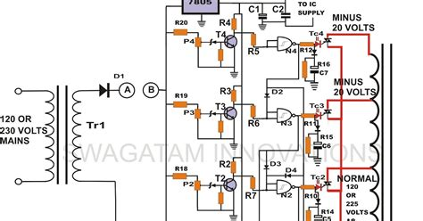 Stabilizer Circuit Triac Controlled Automatic Voltage