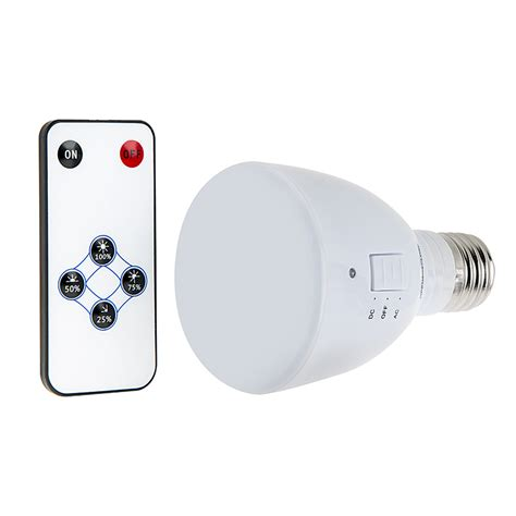 led emergency light bulb for power outages with remote and