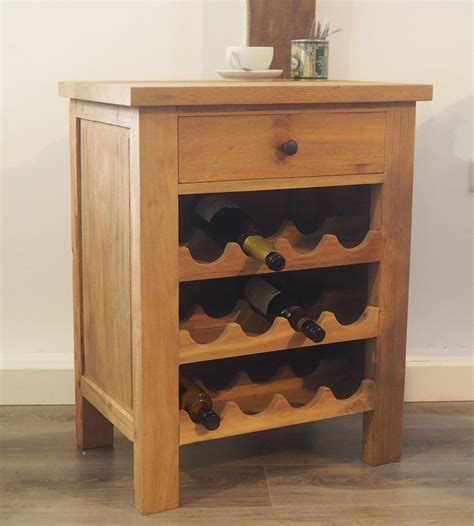 reclaimed console wine rack   wonderful rustic feature   kitchen dining