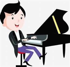 Cartoon chico tocando el piano, Piano, Tocar El Piano ...
