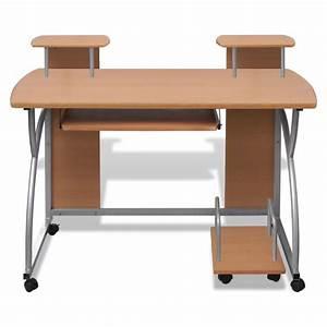 Mobiler Pc Tisch : der computertisch pc tisch mobiler computerwagen b rotisch laptop braun online shop ~ Frokenaadalensverden.com Haus und Dekorationen