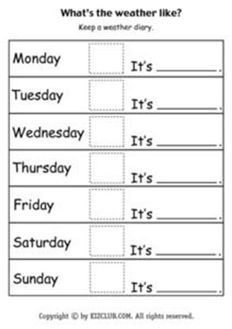 what s the weather like weather diary worksheet for 1st 2nd grade lesson planet
