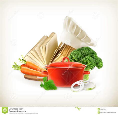 livre cuisine homme casserole avec les légumes et le livre de cuisine