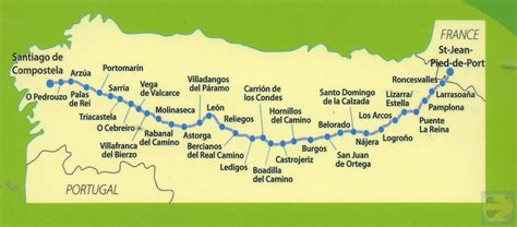 camino maps camino frances map camino de santiago forum
