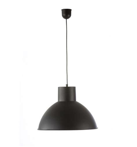 lampara colgante techo industrial metal negra grande