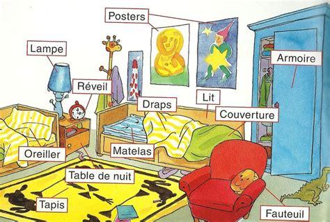 la chambre bedroom vocabulary in français