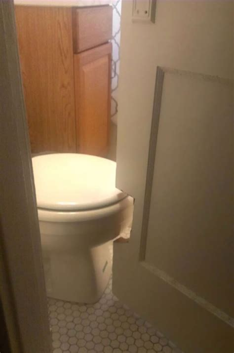 Bathroom Door Swing Out This Bathroom Door Is Cut Out So It Could Swing Past The