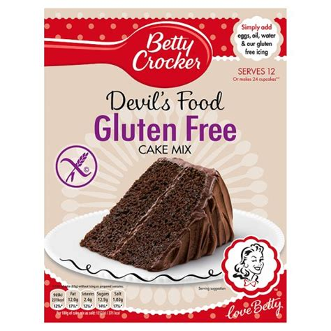 betty crocker gluten  devils food cake