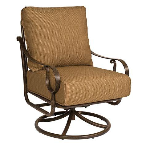 ridgecrest cushion swivel rocking lounge chair woodard