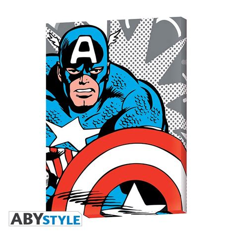 marvel canvas captain america pop art