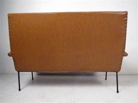 italian settees vintage italian sculptural vinyl settee for sale at 1stdibs