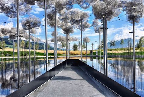 Worlds In Words clouds at the swarovski world in austria