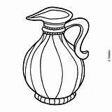 Jug Oil Coloring Clipart Hanukkah Clip Pages Shabbos Template Holidays Cliparts Waldereducation Library sketch template
