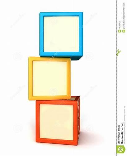 Blocks Building Blank Illustration 3d Alphabet Render