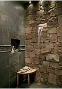 Photo Stone Tile Bathrooms Shower With Stone And Waterfall Spout In Dream Bathrooms