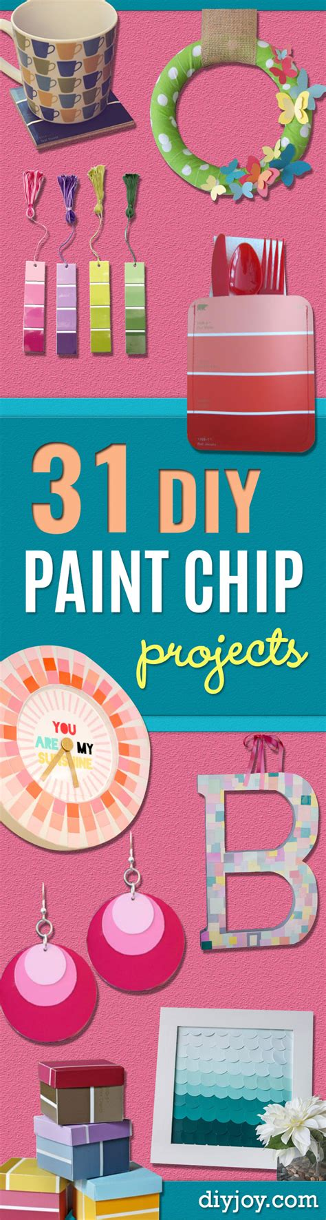 super creative diy paint chip projects