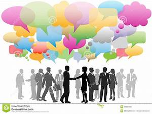 Business Social Media Network Speech Bubbles Stock Vector ...  Social