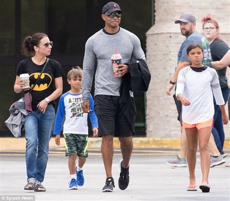 Tiger Woods spends Father's Day with his two young children