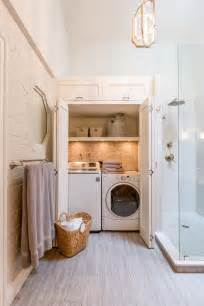 23 small bathroom laundry room combo interior and layout design ideas home improvement inspiration - Bathroom Laundry Ideas