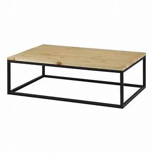 Table Basse Bois Metal : table basse rectangulaire bois et m tal achat vente table basse table basse rectangulaire b ~ Teatrodelosmanantiales.com Idées de Décoration