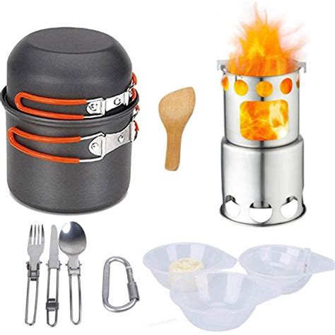 cookware camping open fire kit mess non