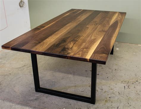 black walnut modern industrial table ks woodcraft