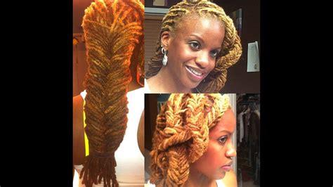 locs fishtail braid style youtube