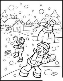 Snow Color Pages Az Coloring Pages