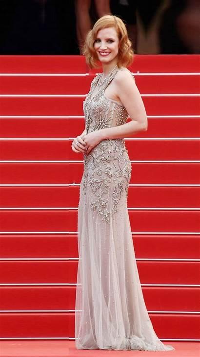 Carpet Jessica Chastain Festival Cannes Film Celebrities