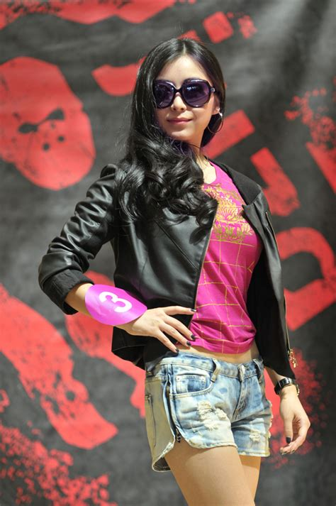 miss asia pageant contestants strut the runway in juzd streetwear clothing juzd