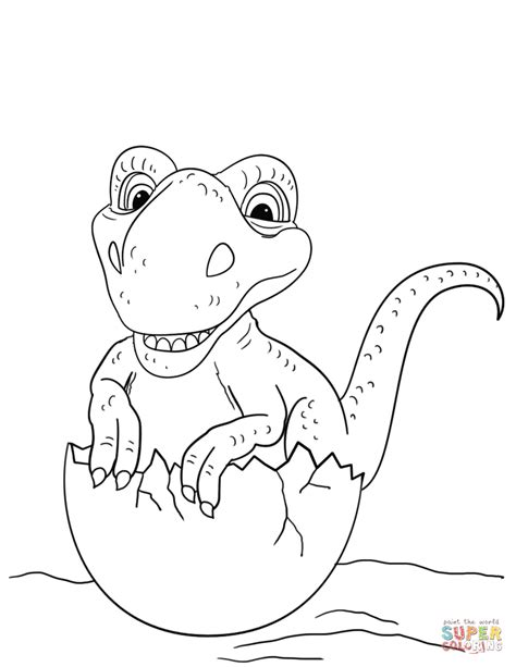 dino coloring pages dinosaur hatching from egg coloring page free printable