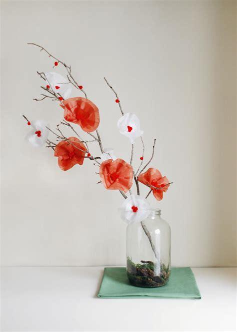 diy tissue paper garden centerpieces once wed
