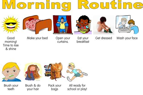 school schedule template 10 best images of daily routine chart for toddlers kids