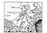 Volcano Coloring Pages Printable sketch template